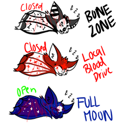 Bat adopts (2/3 OPEN) - PAYPAL ONLY by Otahru