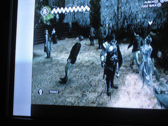 Assassins Creed 2 Glitch 3 Leaning Human of Italia by Earthsongfairy