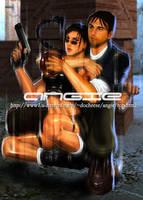 Tomb Raider Lara and Kurtis by Angieair