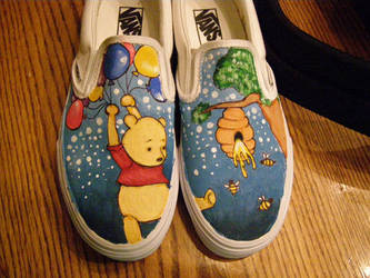 pooh bear shoes by kissesAREcooties