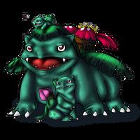 Bulbasaur and evos by AFrozenHeart2