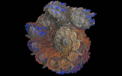 fractal rock in oil by gateman45