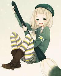 cute girl by 520me