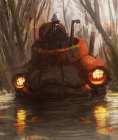 BIGUB a la grenouille noir by Orkimede