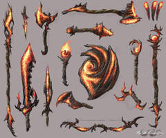 Ember Weapons by sage525