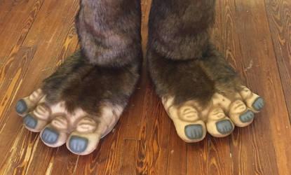 Bigfoot feet by Vermithrax1