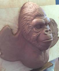 Gorilla sculpture 1 by Vermithrax1