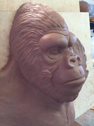 Gorilla sculpture 2 by Vermithrax1