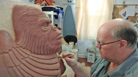 Me sculpting GORILLA by Vermithrax1