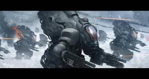 Mecha's war by Gabrix89