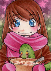 Enjoy your meal - ACEO 171 by Arthay