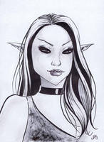 Black Eyed Elf by JRS-ART