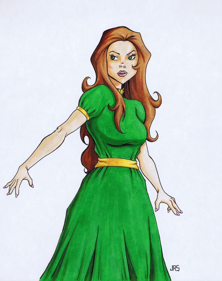 Green Dress [d1] by JRS-ART