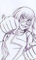 Ms. Marvel [35a] by JRS-ART