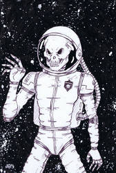 Skull Astronaut [46a] by JRS-ART