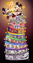 Nine Tiers For Ninety Years by Elera
