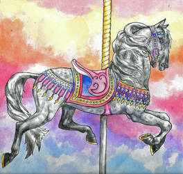 Carousel Horse - Silver and Grey by 6-uNiCoRn-CrOsSiNg-9