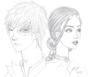 Zuko and Katara - Sketch by love4me