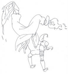 Korra - Fire Cartwheel Lineart by love4me