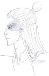 Older Zuko Profile Sketch by love4me