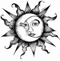 The Sun and Moon by atychiphobe
