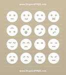 Smileys Photoshop Shapes by Shapes4FREE by Shapes4FREE