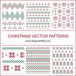 Christmas Pixel Patterns (SVG) by Shapes4FREE