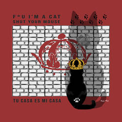 KING CAT on red by Vic4U