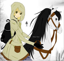 Maka Albarn: A stranger and a horse. by shiniia