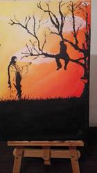 Zacchaeus and Jesus by shiniia