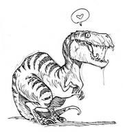 Dinosaur by poubelle-de-dav