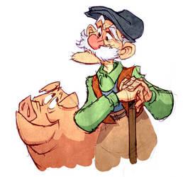 Old Farmer by poubelle-de-dav