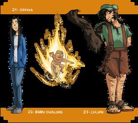 (21) Odessa    (22) Babbu Overlord    (23) Lucjan by Seikame