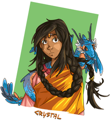 Crystal and a flying gecko by Seikame