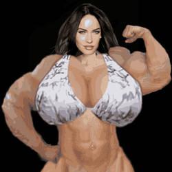 Muscled Megan Fox by GoddessNewMultiverse