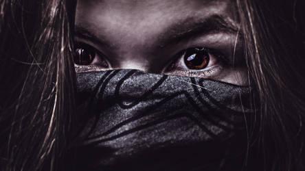 the mysterious gaze by Jameshkin123