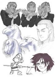 Drawings for YN artbook 2011 by Phrunzoid