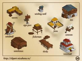 Game buildings: sample by nicubunu
