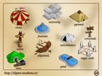 Game buildings: samples by nicubunu