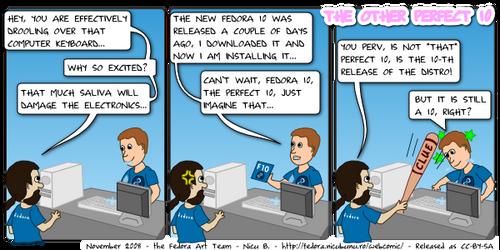 Webcomic Fedora: Perfect 10 by nicubunu