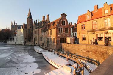 Sunset in Bruges by nicubunu