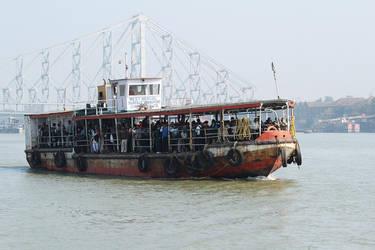 Boat on the Gange by nicubunu