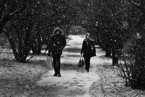 People in snow by nicubunu