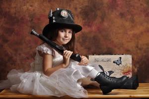 Steampunk girl by nicubunu