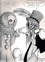 Mel meets Pennywise by brass-kettle