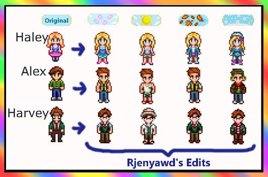Stardew Valley Seasonal Characters Mod by Rjenyawd