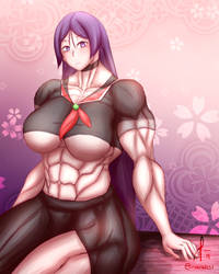 mama raikou but she's really buff and inviting you by oneeris