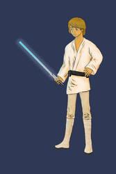 Luke Skywalker no background by celloforce