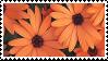 orange flowers stamp by sosse123