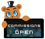 Freddy Commissions Open Stamp by BlueBismuth